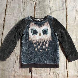 H&M Owl Plush Sweatshirt